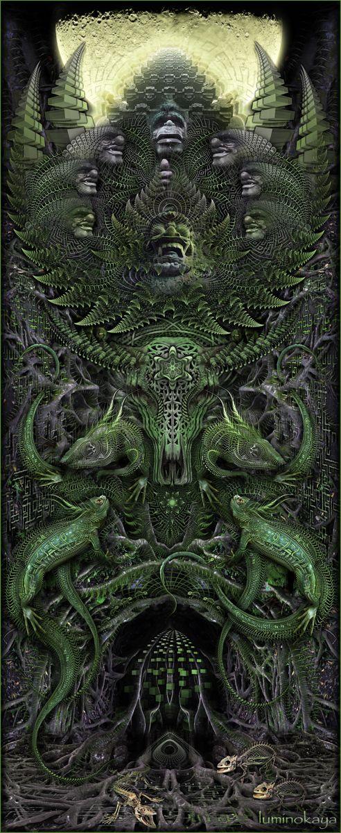 Visionary Digital Art by Luminokaya lab