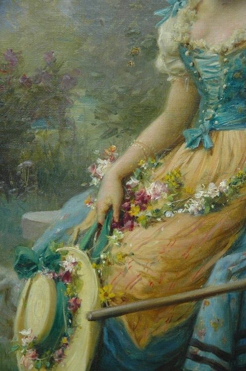 Oil painting by Hans Zatzka- (detail)