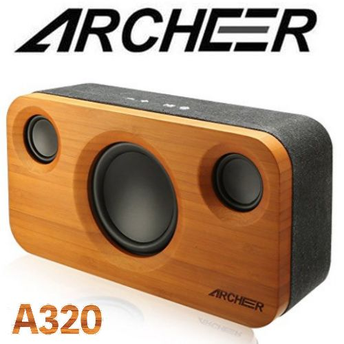 top high-tech l'année Archeer A320 bamboo, Super BasS HQ Bluetooth speaker design home deco best meilleur enceinte bois top high-tech 2017 year année