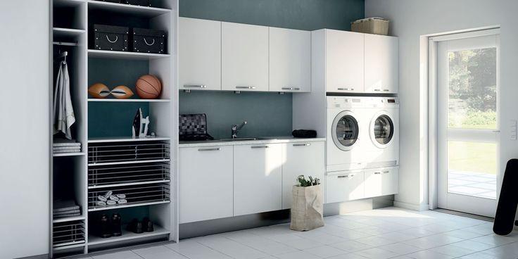 Strand Vit MDF - tvättstuga med stil | Electrolux Home - Electrolux Home
