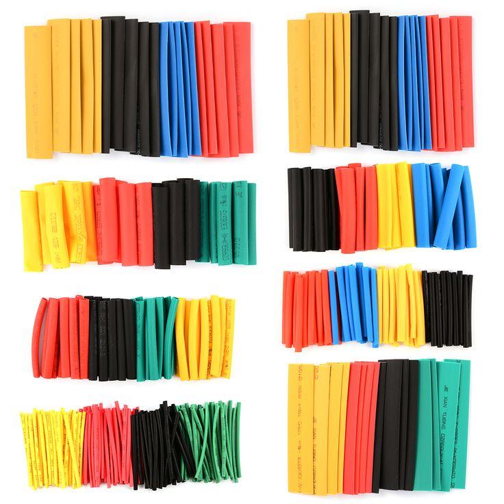 328pcs Assorted Heat Shrink Tube 5 Colors 8 Sizes Tubing Wrap Sleeve Set RC214+
