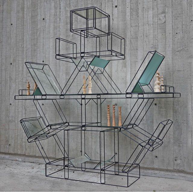 Edgar Orlaineta; Enameled Metal and Glass 'Totem after Ettore Sottsas', 2013.