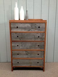 UPCYCLED VINTAGE DRAWERS   Main body is solid Rimu - fully sanded sanded with three layers of Danish oil. Drawer fronts made from rustic aged timber (pine)