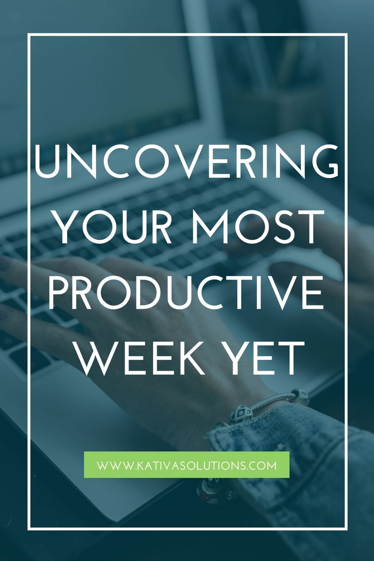 How to have your most productive week ever. My best productivity tips