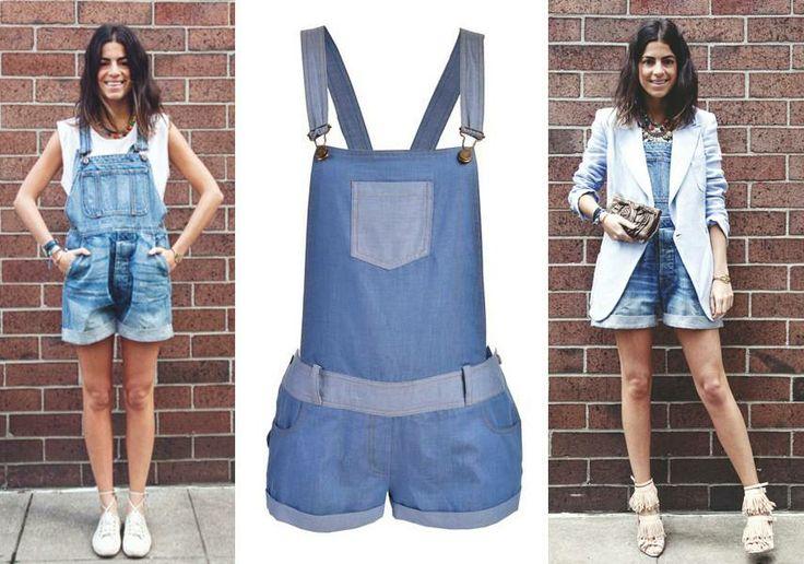 Una de nuestras bloggers favoritas, Leandra Medine, nos muestra dos maneras de usar overol de mezclilla ¿cuál es tu favorita?