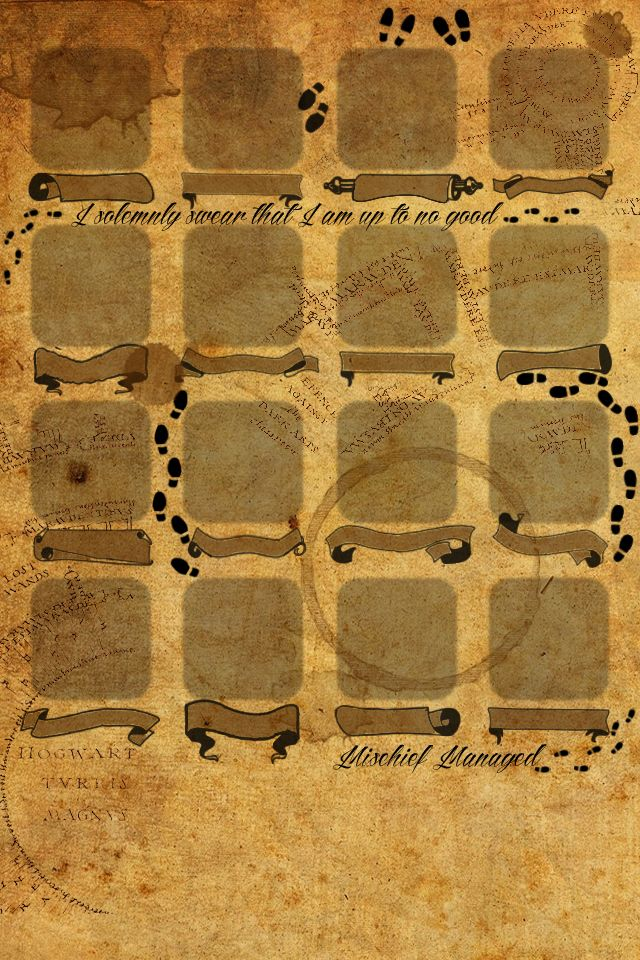 Harry Potter Marauders Map Iphone Wallpaper 34528 Loadtve