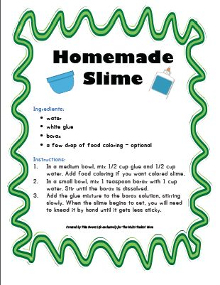 Best 25 easy slime recipe ideas on pinterest making slime two free homemade slime recipes ccuart Choice Image