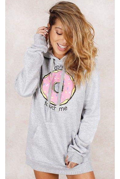Blusa Moletom Donut Mescla Fashion Closet - fashioncloset
