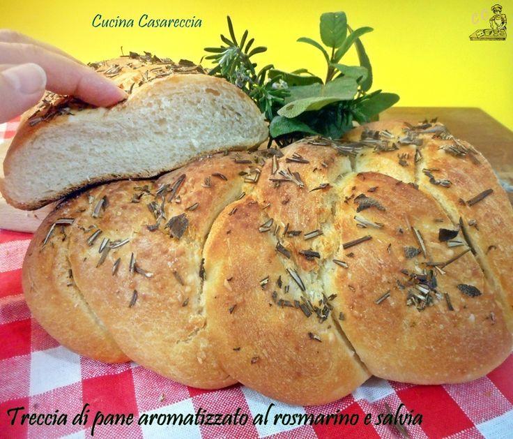 pain tressé aromatisé avec romarin et la sauge