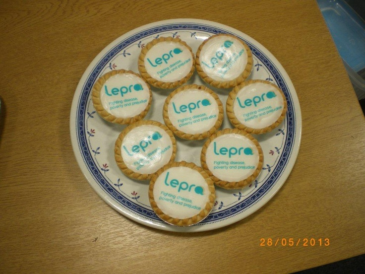 To celebrate our new look, chief executive Sarah makes some beautiful Lepra #cakes