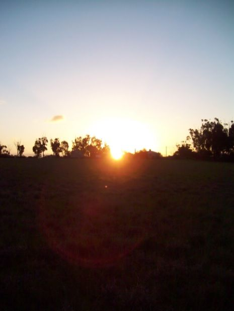 Sunset on holidays when I went to country Victoria.