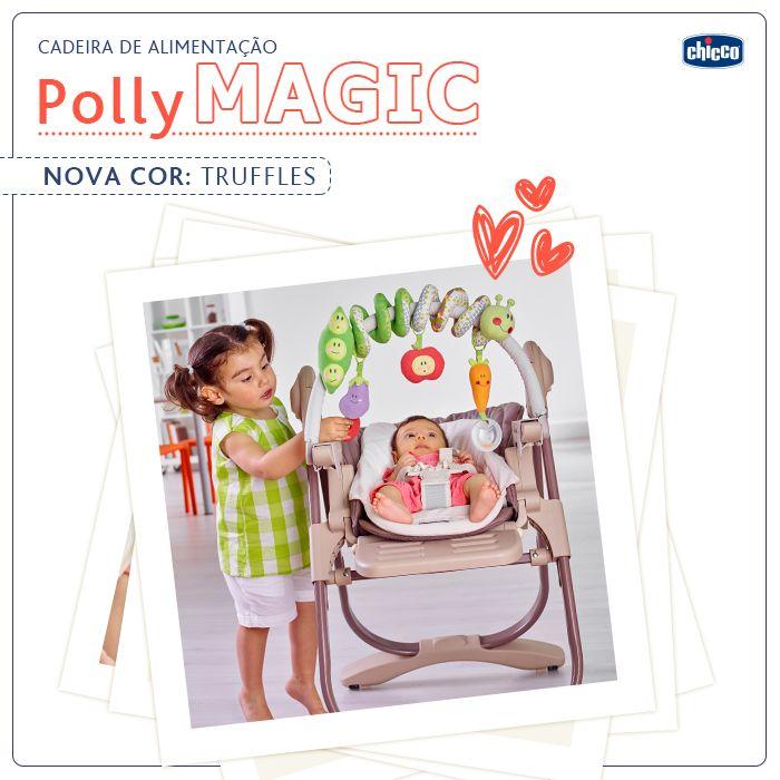Versátil a Polly Magic é a cadeira multifuncional da Chicco que se transforma para acompanhar o crescimento do bebê, desde o primeiro dia em casa até os 3 anos de idade (aproximadamente). Quando recém-nascido, é uma espreguiçadeira aconchegante, aos 6 meses é uma cadeira de alimentação e aos 12 meses uma cadeira para jantar na mesa com a família!