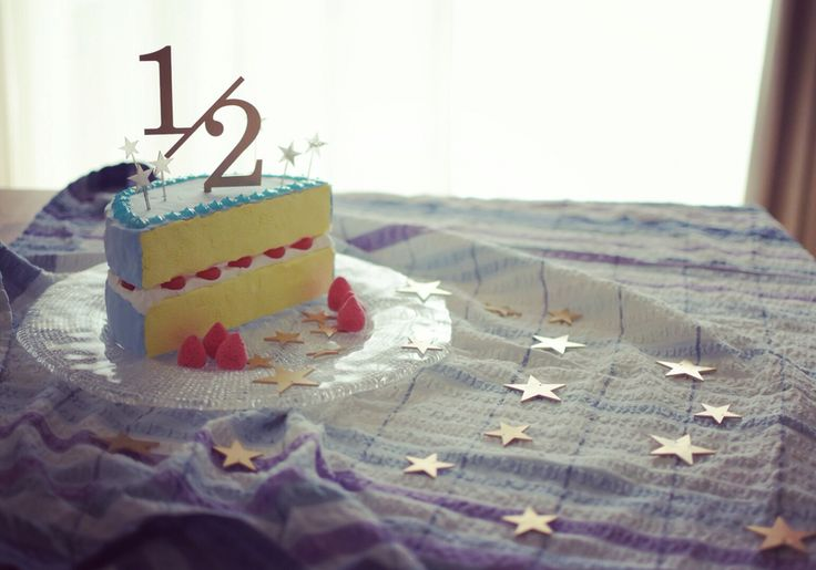Half birthday cake by paper clay.