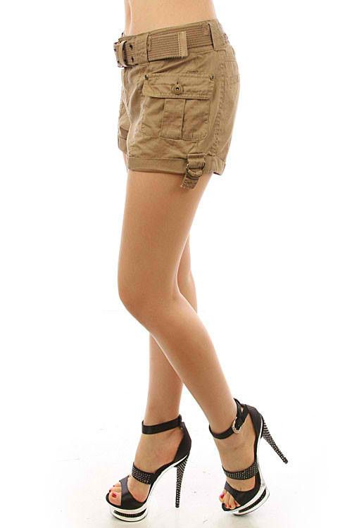 womens khaki shorts | Combat Shorts : They have a military look ; and for the militia lovers ...