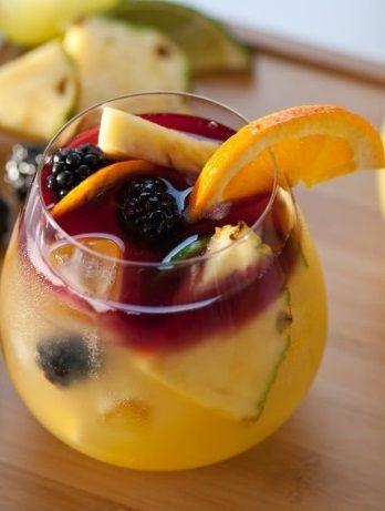 Very delicious tequila mixed drink with a lot of fruit juices
