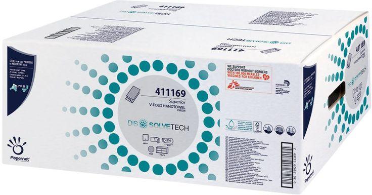 Prosoapele Papernet Superior Dissolvetech se pot arunca in vasul WC dupa utilizare deoarece se descompun precum hartia igienica.