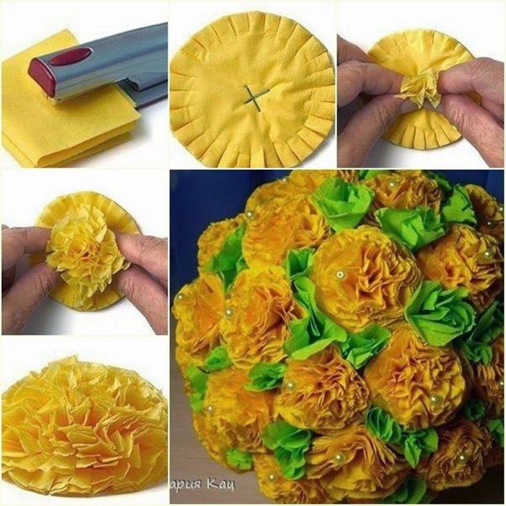 MENTŐÖTLET - kreáció, újrahasznosítás: Virággömb