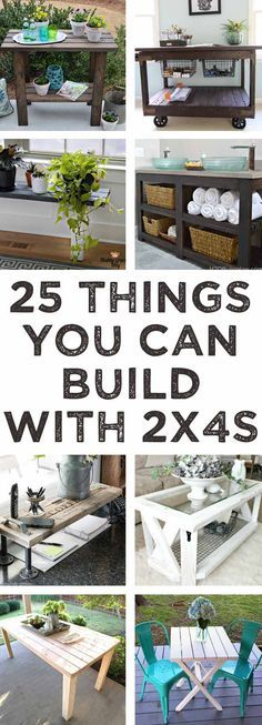 So many good ideas here for things to build with 2x4s! #woodworking