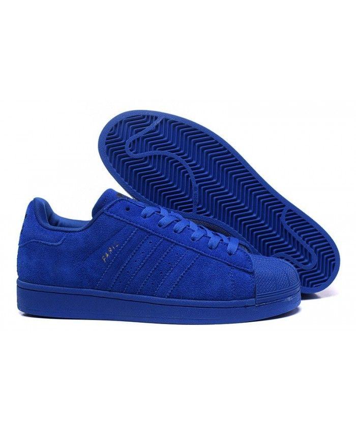 d18c35e71f6 Hot Adidas Superstar 80s City Series Paris Skate Blue101-2308 ...