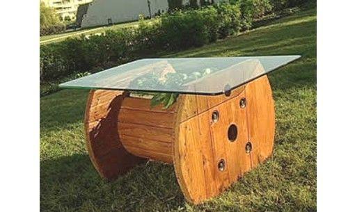 Crea muebles con carretes de cables muebles reciclados for Crea muebles
