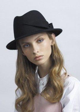 Black Felt Hat For Women