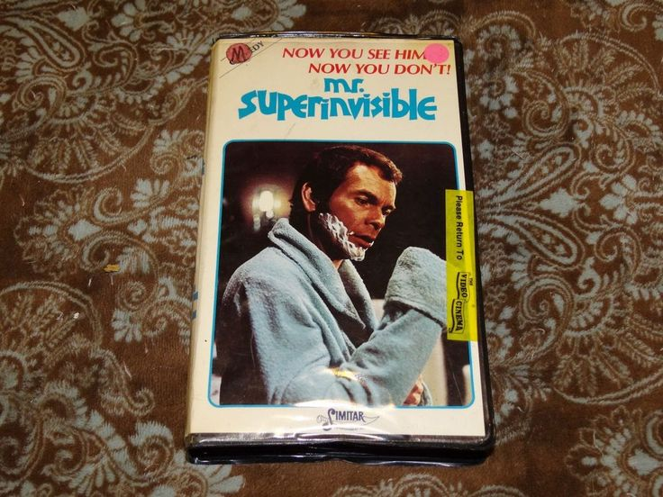 Mr. Superinvisible (VHS, 1986) Rare OOP Simitar Clamshell/Disney-ish Dean Jones!