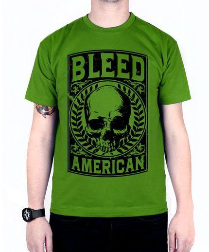 Camiseta Bleed American Caeser Verde Bandeira - Marca Bleed American