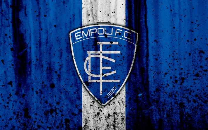 Download wallpapers Empoli, 4k, grunge, Serie B, football, Italy, soccer, stone texture, football club, Empoli FC