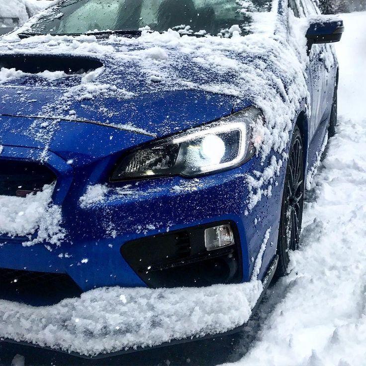 Snowbaru . . . . #subaru #winter #wrx #sti #cars #car #automotive #mechanic #import #rally #wrxsti #impreza #snow #hid #diodedynamics #canada #britishcolumbia #ice