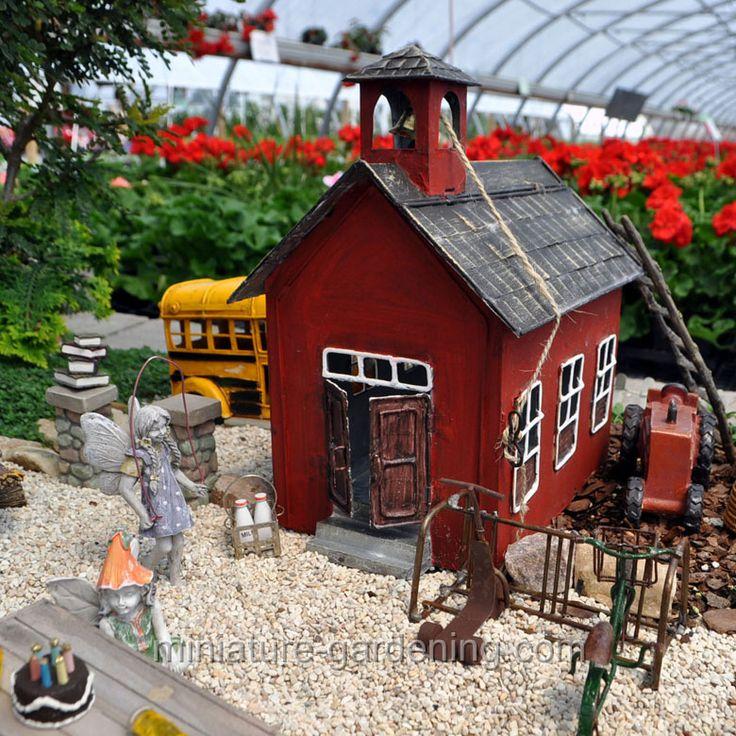 Little Red Schoolhouse. Mini GardensMiniature ...