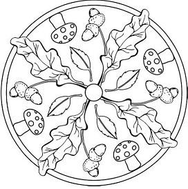 mandala tardor   disegni di mandala da colorare, disegno
