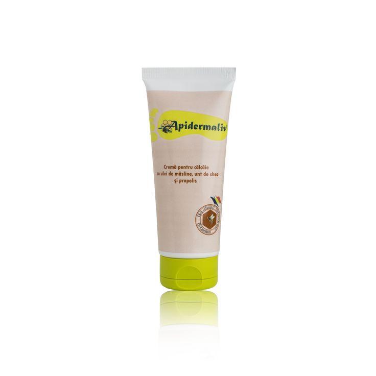 Heel cream  Propolis, olive oil, royal jelly Apidermaliv crema cu propolis pentru calcaie