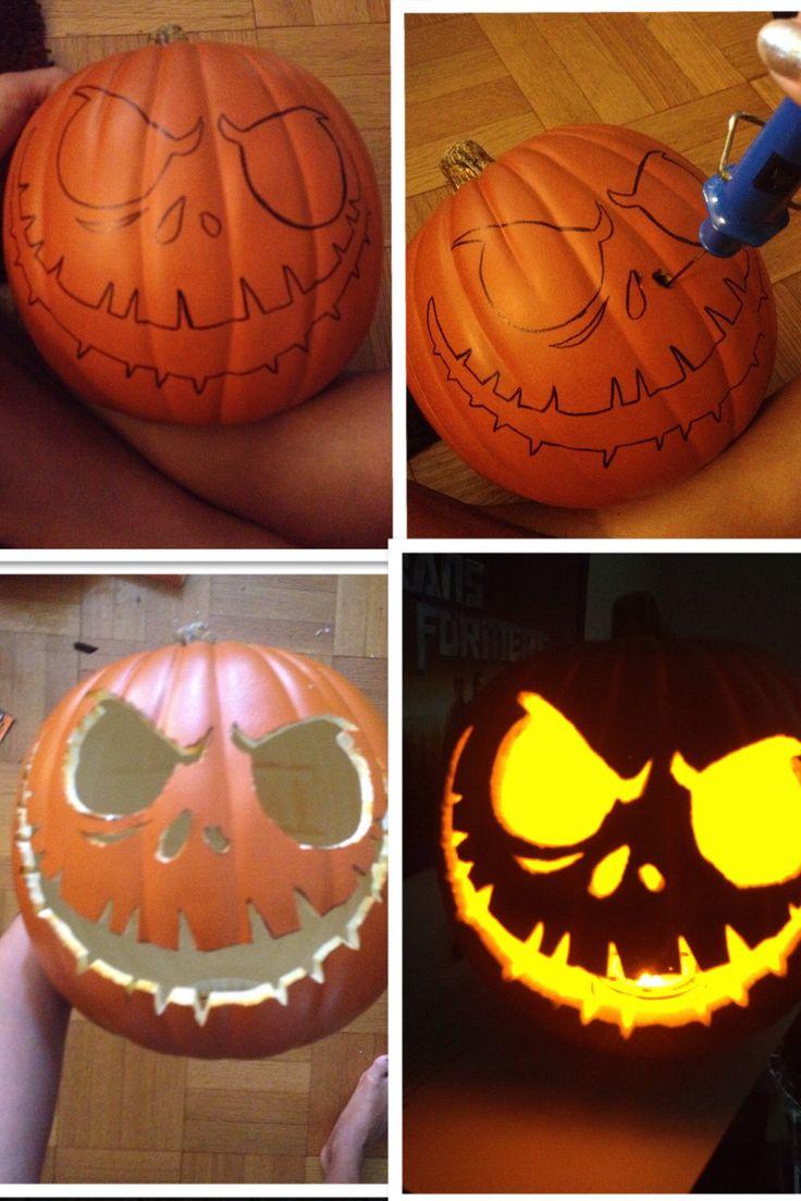 25+ beste ideeën over jack skellington pumpkin carving op