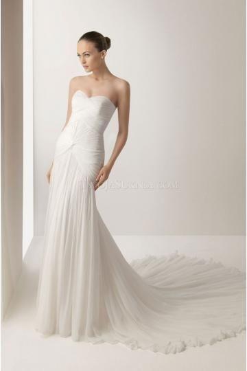 abiti da sposa da sposa di chiffon guaina