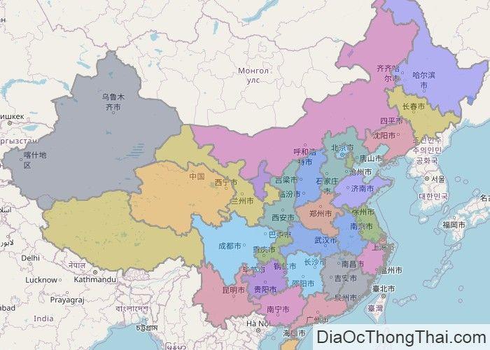 Bản đồ Trung Quốc Bản đồ Bản đồ Thế Giới Trung Quốc