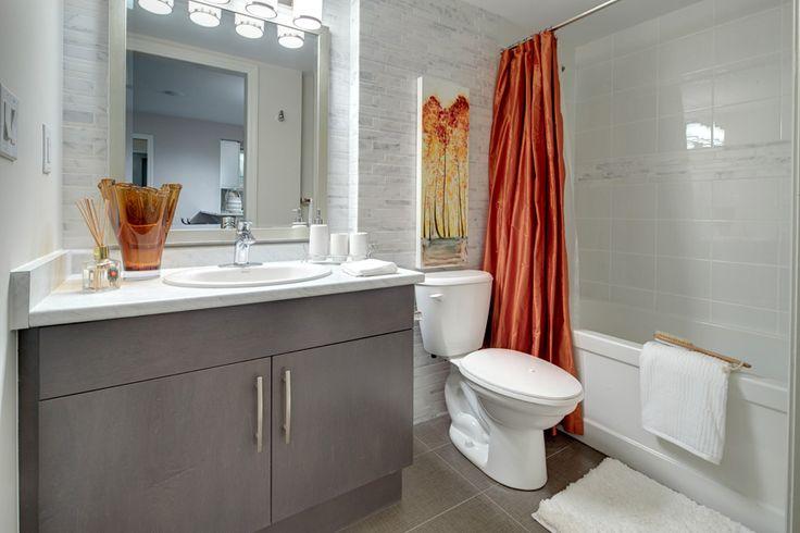 Orange On White Colour Scheme Adds Cheer To A Bathroom Mattamy 39 S New Mambo Model In Milton Gta