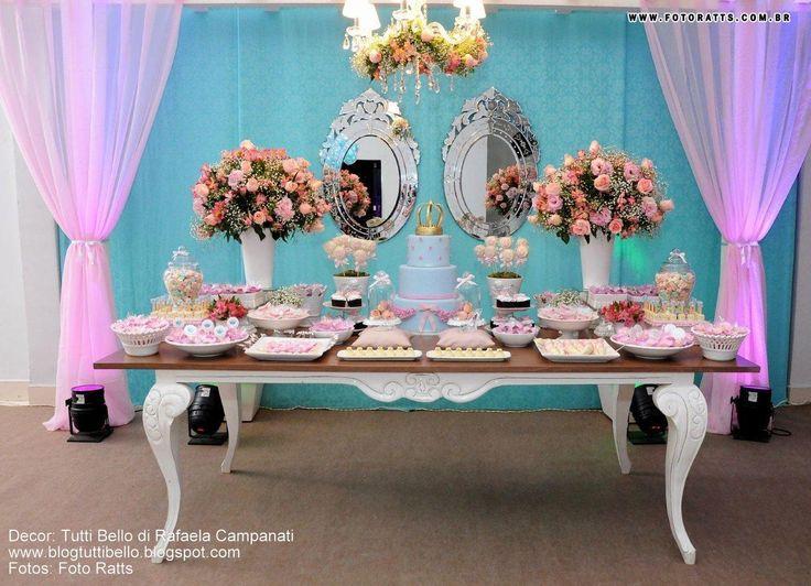 Mesas de doces para casamento azul pesquisa google for Cubre sillas para 15 anos