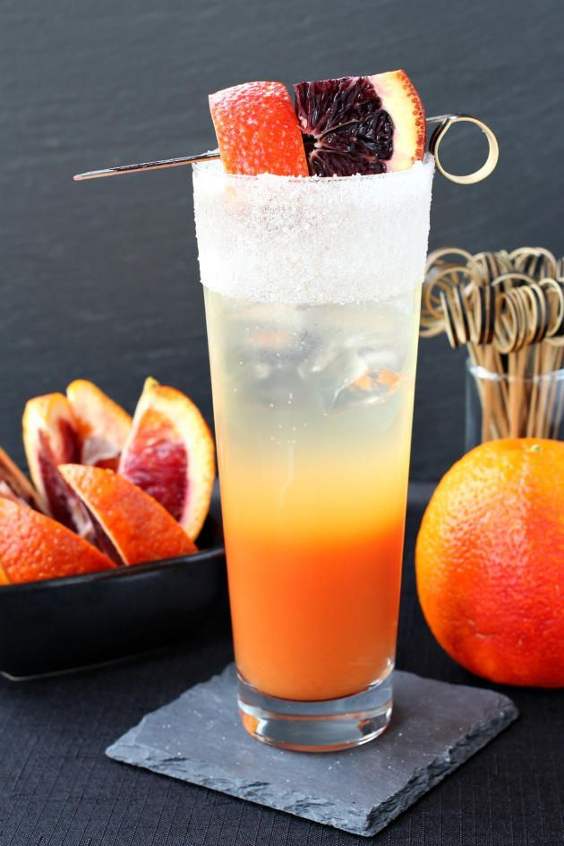 Blood Orange Gin Cooler is a beautiful cocktail to sip on the patio. A ...