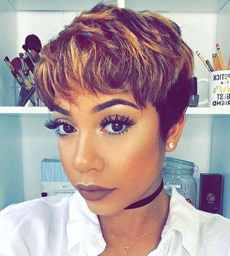 ☝☝❤❤Short pixie cut with this color is everything!!☝☝❤❤ #repost#divaswigs