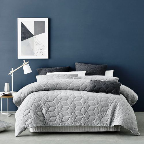 Empire Jersey Quilt Cover Grey