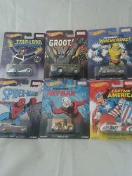 Hot Wheels marvel comic 6 full set Nostalgia Real Riders Pop Culture Retro 1:64