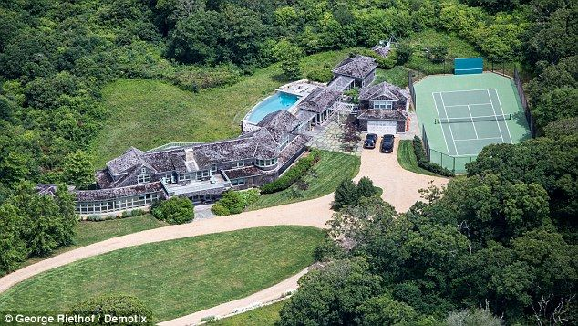 Glorious: This huge mansion is where the Obama family will spend their now annual Martha's Vineyard vacation, planned for August 9 through August 24, 2014