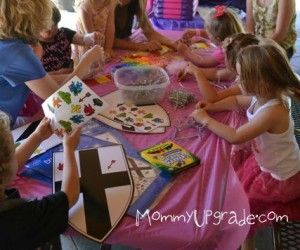 Princess and Knights party crafts