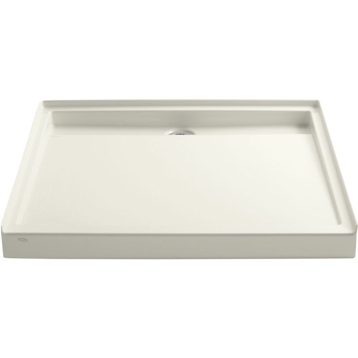 KOHLER Groove Biscuit Acrylic Shower Base (Common: 48-in W x 48-in L; Actual: 48-in W x 48-in L)