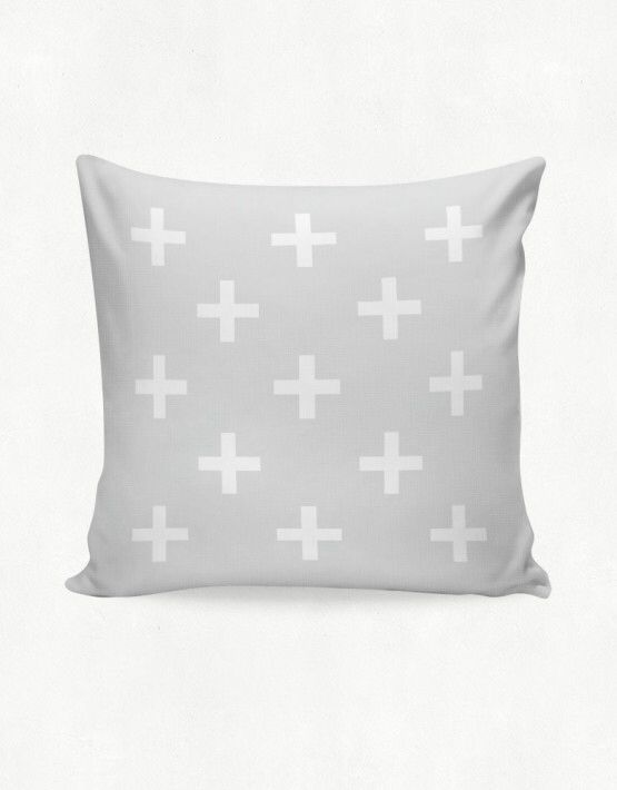 IMIMAH #Scandanavian inspired small multi cross outdoor cushion in muted grey - $38 + pp - from IMIMAH.co. #cushions #pillows #livingroom #decor
