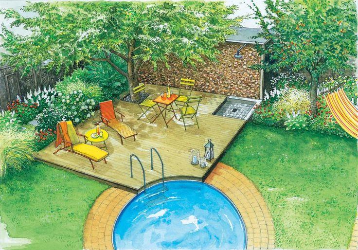 Der Swimmingpool lädt im Sommer zum abkühlen ein