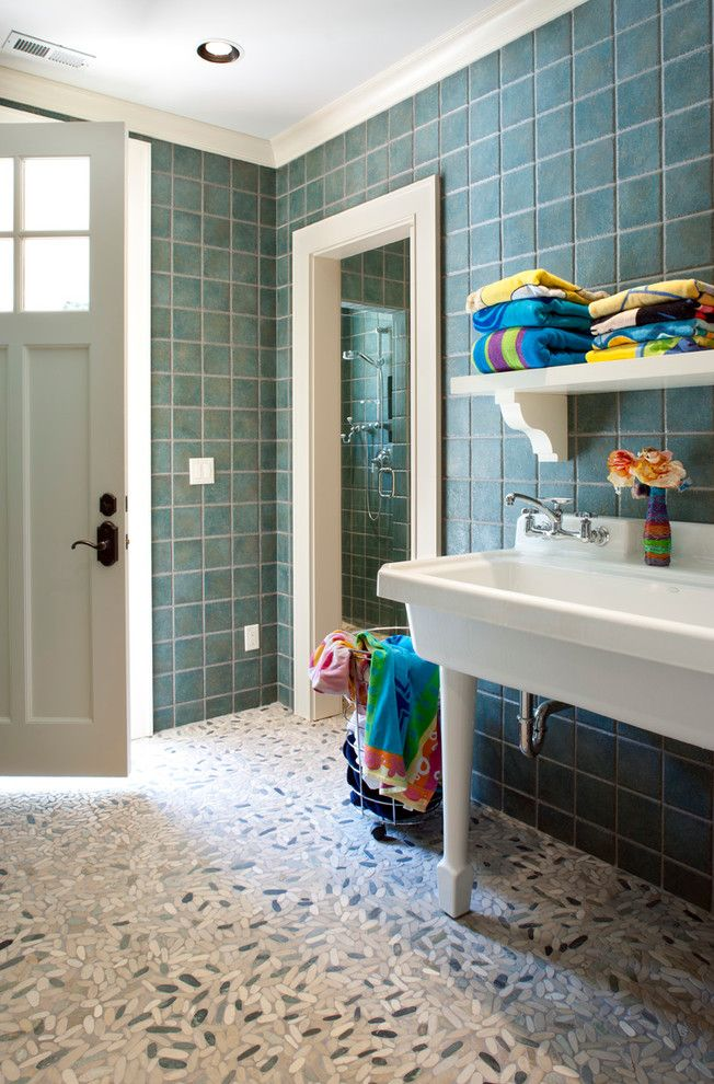 310 best mudroom images on pinterest entrance hall for Pool house bathroom designs