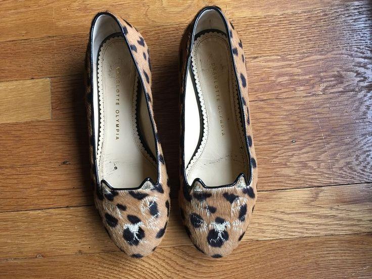 Charlotte Olympia Kitty Flats, Leopard print 36.5 #CharlotteOlympia #BalletFlats