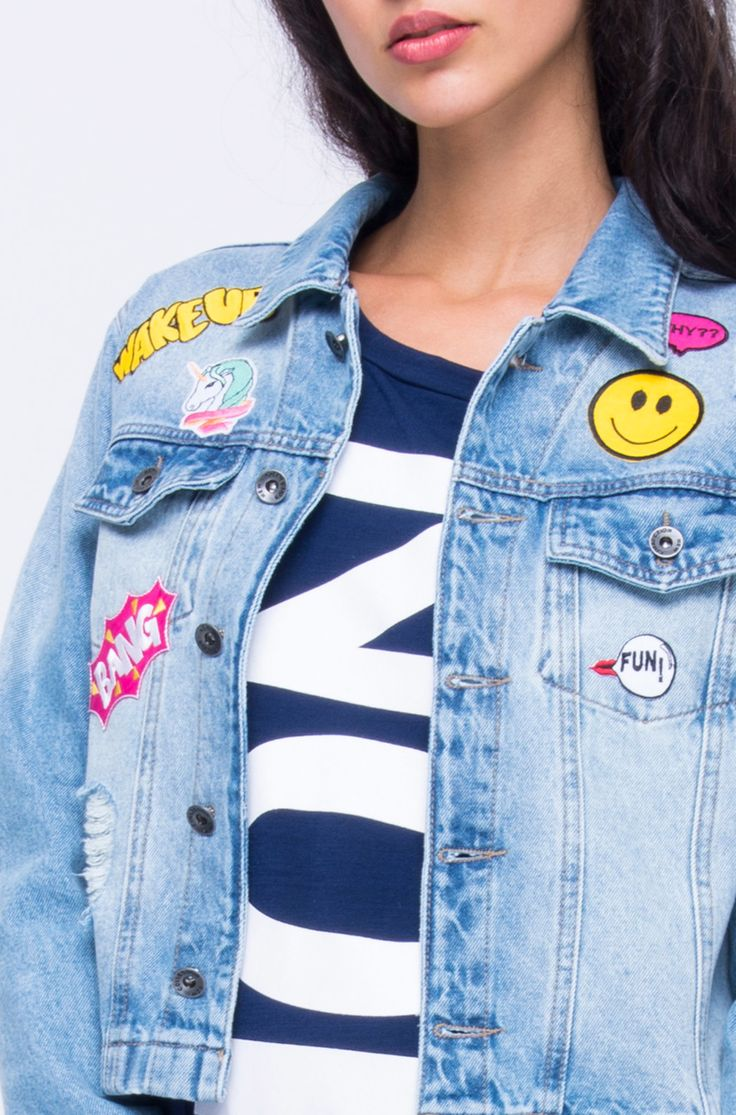 JAQUETA JEANS PATCHES GALATA