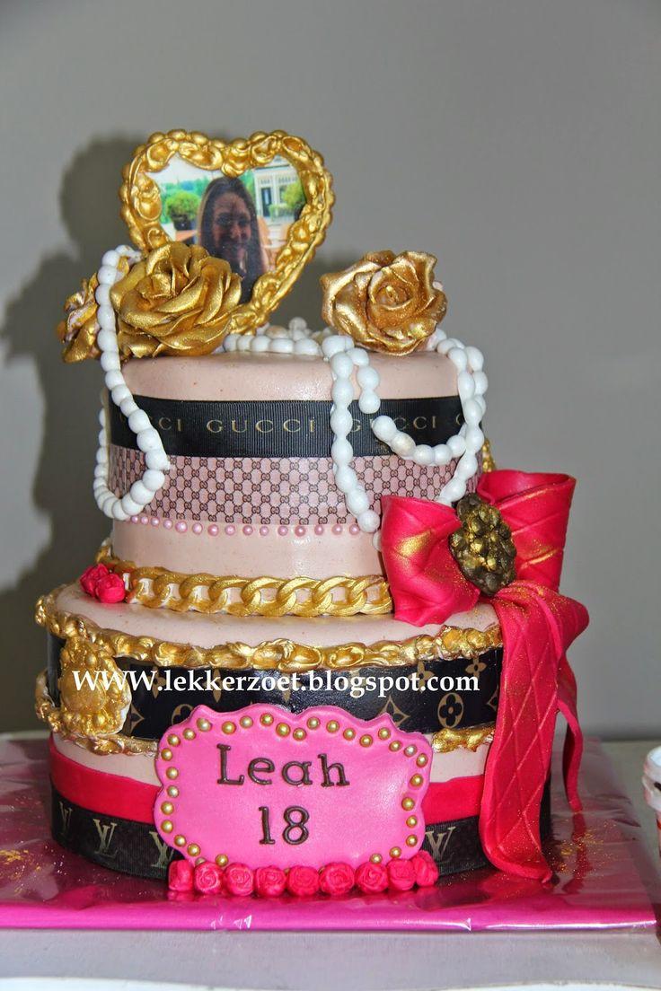 lekker zoet: Gucci/ louis Vutton taart voor Leah 18 jaar